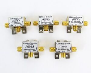 Lot Of 5 Mini circuits Zx30 9 4 Sma Directional Coupler 5 1200 Mhz