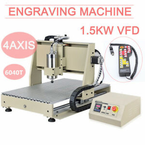 Cnc Router Engraver 4axis 6040 1500w Vfd Milling Carving Machine With Controller