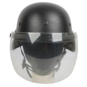 Tactical M88 PASGT Kelver Swat Helmet Black with Clear Visor Airsoft Paintball