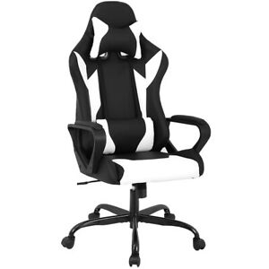Racing Office Chair High back Pu Leather Gaming Chair Reclining Computer Chair