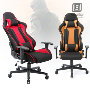 High Back Gaming Chair Racing Ergonomic Swivel Office Desk Recliner Seat