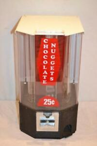 Candy Chocolate Nugget Vending Machine 25 Cent 2 Keys