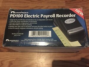 New Acroprint Pd100 Electric Payroll Recorder