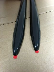 Vintage Type 7 8 X 16 Solid Black Body Side Molding Molding Point Ends