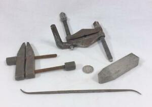 Lot Of 4 Machinist Tools Billings Spencer Bent Tail Adj Lathe Dog Clamp more