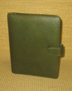 Compact 75 Rings new Green Leather giada Franklin Covey Planner binder