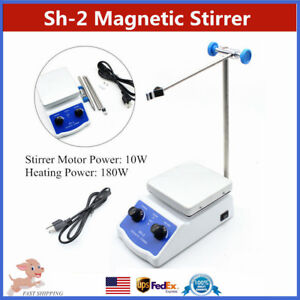 Laboratory Magnetic Stirrer Heating Sh 2 Hot Plate Dual Control 180w 100 1500rpm