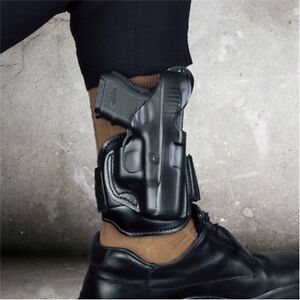 Desantis 044ba4cz0 Black Right Hand Leather Ankle Holster For Sig P938
