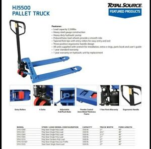 Pallet Jack Hand Truck 5500lb 27 X 48 New 1 year Warranty pick Up Houston