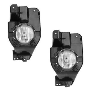 For 2012 To 2015 Ford Explorer Clear Fog Lights Driving Bumper Lamps W Bulbs
