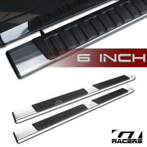 6 Oe Style Aluminum Side Step Running Boards 1999 2016 F250 F350 Superduty Crew