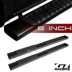 6 Oe Style Aluminum Blk Side Step Running Boards 2004 2008 F150 Super Extended