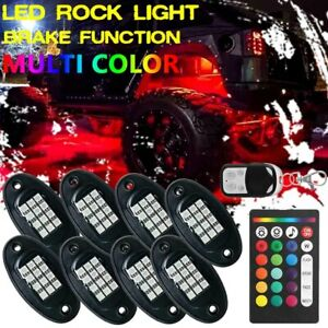 8pcs Led Pod Rgb Rock Light Neon Off road Underglow Body For Jeep Atv Truck