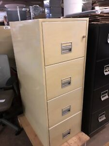 4 Drawer Legal Size Fire proof File Cabinet By Fire Guard W lock