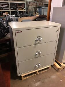 3 Drawer Lateral Size Fire proof File Cabinet By Fire King W lock