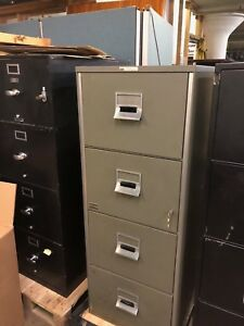 4 Drawer Legal Size Fire proof File Cabinet By Victor W lock key