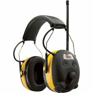 3m Worktunes Hearing Ear Protector Earmuff Mp3 Compatible W Am fm Radio Tuner
