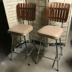 Counter Height Bar Stools Arthur Umanoff Vintage Mid Century