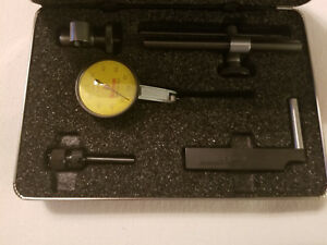 Starrett 708macz Dial Test Indicator W Attachments Dovetail Mount Yellow