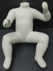 White Child Mannequin No Head Boy Girl Clothing Display Body Form Sitting 20