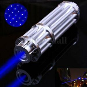 Blue Light Laser Pointer Pen 450nm Adjustable Beam Burning Match 0 5mw Star Cap