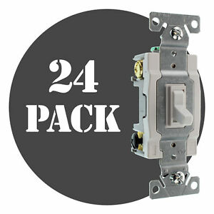 Hubbell Rs415wz Spec Grade Toggle Switch 4 way 15a 120 277v White 24 pack
