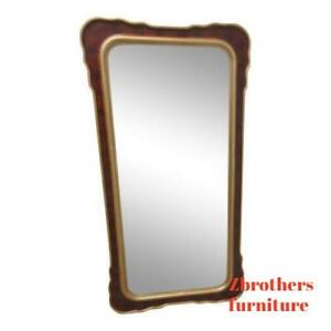 Decorative Hollywood Regency Gold Hanging Dresser Wall Mirror A