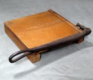 Vintage Ingento No 3 10x10 Small Wood Paper Cutter