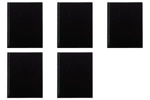 Blueline Composition Business Notebook Black 9 25 X 7 5 Inches A9 pack Of 5