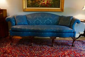 Williamsburg Reserve Collection By Stickley Blue Damask Sofa Stunning