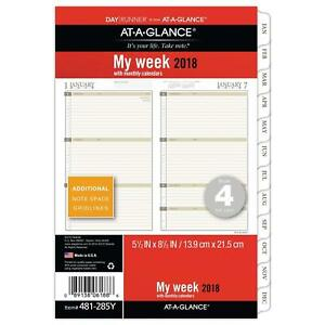 Runner Day Weekly Monthly Planner Refill At a glance January 2018 December