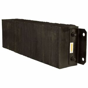 Rubber 6 Deep Horizontal Laminated Dock Bumper 10 H X 36 W