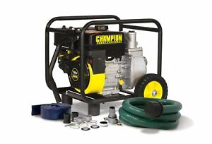 Champion 2 inch Gas powered Semi trash Water Transfer Pump With Hose And Whee