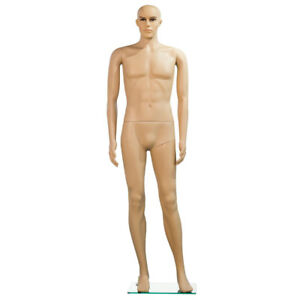 Male Mannequin Plastic Realistic Display Turnable Model Dress Form W Base New