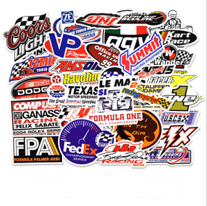 Lots Of 50 Pcs Vintage Stickers Biker Car Racing Motorcycle Decals Logo Sticker