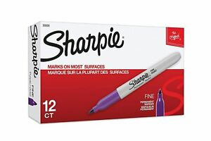 Best Sharpie Permanent Markers Fine Point Purple Box Of 12 Sharpie Markers Pack