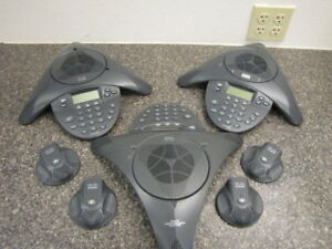 Lot Of 3 Cisco Cp 7936 Conference Phones With 4 External Mics