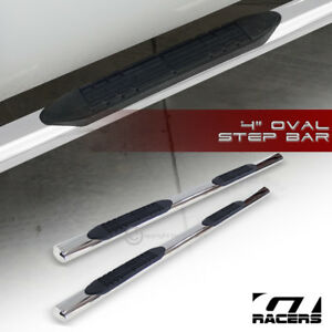 For 1998 2002 Dodge Ram Quad Cab 4 Stainless Side Step Nerf Bars Running Boards