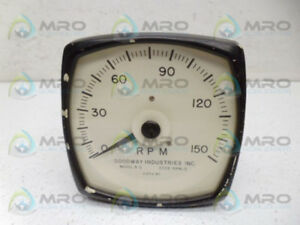 Goodway R 5 150rpm Gauge used