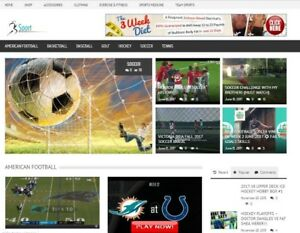 100 Fully Automated Sports Website Auto updated Daily Super Profitable Niche
