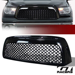 For 2007 2009 Tundra Gloss Blk Tr style Mesh Front Bumper Grill Grille Guard Abs