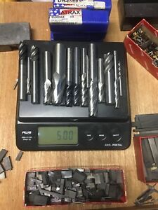 5 Lbs Scrap Used Solid Carbide End Mills 6