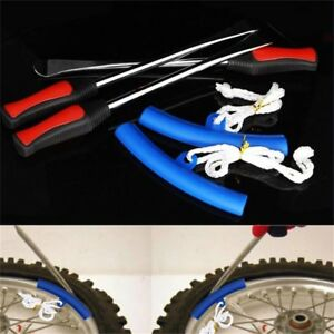 3 Spoon Motorcycle Tire Iron Change W Rim Protector Tool Combo Lever Gift Set Us