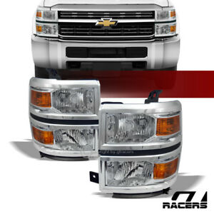 Clearance For 2014 2015 Silverado 1500 Chrome Headlights Signal Amber Lamps Dy