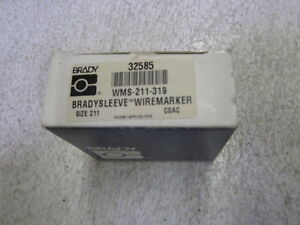 Brady Marker Labels Wml 211 319 Size 211 new In Box