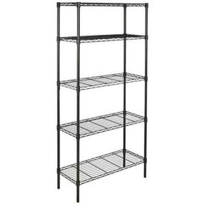 5 Tier Garage Storage Metal Rack Shelving Shelves Unit Standing Space Save