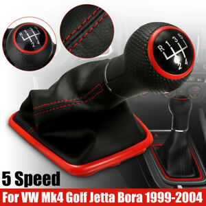 Leather 5 Speed Gear Shift Knob Gaiter Boot For Vw Jetta Golf Bora Gti R32 99 05