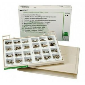 3m Espe Po 96 Assorted Permanent Molar Stainless Steel Crowns Complete Kit