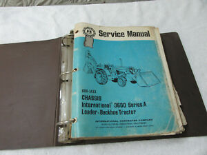International Tractor Loader Backhoe 3400a 3500a 3600a Service Manual Vintage