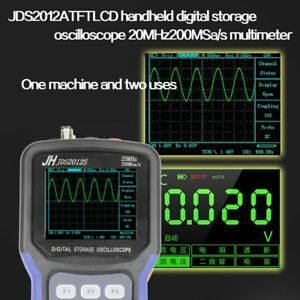 Handheld Lcd Digital Storage Oscilloscope Tft 25mhz 200msa s Multimeter Ft